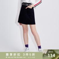 skirt Winter of 2018 S,M,L,XL 67 midnight blue Short skirt Natural waist 25-29 years old