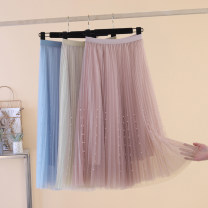 skirt Summer of 2019 Mid length dress Versatile High waist A-line skirt other Type A 18-24 years old 51% (inclusive) - 70% (inclusive) other other 141g / m ^ 2 (including) - 160g / m ^ 2 (including)