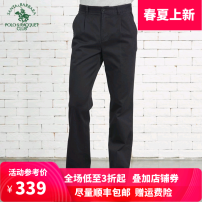 Casual pants SANTA BARBARA POLO & racket club / St. Paul Business gentleman thick trousers go to work easy No bullet winter youth Business Casual 2019 Medium high waist Straight cylinder Cotton 100% Solid color plain cloth cotton Summer 2017 More than 95%