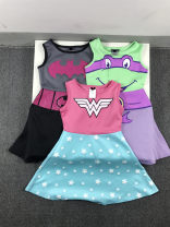 Dress Star, no return and no exchange of defects in the whole store, Batman, no return and no exchange of defects in the whole store, ninja tortoise (two colors sent randomly) female Other / other 4/5A,6/6X,7/8A,10/12A,14/16A Other 100% summer other Skirt / vest