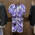 Dress Summer 2021 Purple, green S,M,L Short skirt singleton  Short sleeve V-neck Decor puff sleeve Others Type H STEO&UR WG13R7DN2000