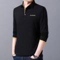 T-shirt Fashion City 0512 / black 0512 / dark grey 0512 / light grey 0512 / dark blue 0512 / white 0512 Plush / dark grey 0512 Plush / Black routine 3XL 170/M 175/L 180/XL 185/XXL 4XL 5XL Extravagant fashion Long sleeves Lapel easy daily spring Cotton 95% polyurethane elastic fiber (spandex) 5% youth