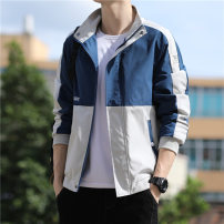 Jacket Carsley / Casley Youth fashion 9335 black 9335 green 9335 blue XXL XXXL M L XL routine easy Other leisure autumn BZ-9335 Polyester 100% Long sleeves Wear out tide youth routine Zipper placket other No iron treatment Closing sleeve Autumn 2020 Color matching Pure e-commerce (online only)
