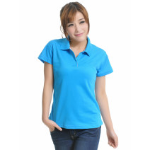T-shirt White, black, yellow, sky blue, sea blue, orange, Magnolia, bright red, bright green, rose red, fruit green, pink, light purple, deep purple Female-m, female-l, female XL, female XXL, male m, male L, male XL, male XXL Summer 2017 Short sleeve Polo collar Self cultivation Regular routine other
