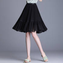 skirt Autumn 2021 The average size is 90 to 150 Jin Black, white Middle-skirt commute High waist A-line skirt Dot Type O 40-49 years old - 31% (inclusive) - 50% (inclusive) Chiffon polyester fiber pocket 141g / m ^ 2 (including) - 160g / m ^ 2 (including)