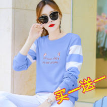 T-shirt M L XL XXL Spring 2021 Long sleeves Crew neck easy Regular routine commute cotton 86% (inclusive) -95% (inclusive) 25-29 years old Korean version originality Cartoon animation animal design letters Shishangjf / Fashion liberation qS3197 printing Pure e-commerce (online only)