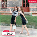 Dress Summer of 2019 Black zbl0059-1 black zbl0059-2 S M L Middle-skirt singleton  Short sleeve commute Loose waist Socket Princess sleeve Others 25-29 years old Caidaifei Korean version Stitching bandage Sequin mesh ZBL0059 More than 95% polyester fiber Polyester 100%