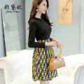 Dress Spring of 2019 black S M L XL XXL Short skirt singleton  Long sleeves commute High waist Socket routine Others 25-29 years old Caidaifei Korean version L422RX More than 95% polyester fiber Polyester 97% polyurethane elastic fiber (spandex) 3%