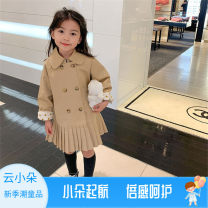 Plain coat Other / other female 90cm,100cm,110cm,120cm,130cm,140cm khaki spring and autumn Korean version double-breasted There are models in the real shooting routine nothing Solid color other Other 100% Class B