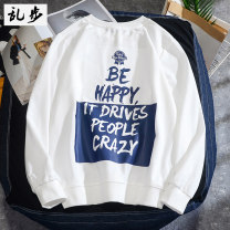 Sweater Youth fashion Ramo / rambling S M L XL 2XL 3XL 4XL 5XL Geometric pattern Socket Thin money Crew neck autumn easy leisure time teenagers tide routine 19B779 Polyester 83.2% cotton 16.8% polyester fiber Lettering No iron treatment Autumn of 2019 Japanese and Korean style