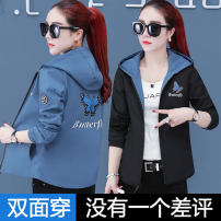 short coat Winter of 2018 M L XL 2XL 3XL 4XL Long sleeves have cash less than that is registered in the accounts routine singleton  easy Versatile routine Hood zipper letter 25-29 years old Love 17 96% and above Asymmetric embroidery pocket S817 polyester fiber polyester fiber Polyester 100%