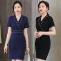 Professional dress suit S M L XL XXL 3XL 4XL 5XL Short sleeve black dress short sleeve blue dress Summer 2021 Short sleeve SBFR-008899 other 25-35 years old Lady 38 Polyamide fiber (nylon) 94.2% polyurethane elastic fiber (spandex) 5.8% Pure e-commerce (online only)