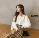 shirt S,M,L Spring 2021 polyester fiber 31% (inclusive) - 50% (inclusive) Long sleeves commute Single row multi button Solid color 18-24 years old Straight cylinder Korean version polyester cotton