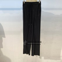Casual pants Summer 2021 trousers Versatile 18-24 years old 96% and above A5GBB2106 Peacebird silk Asymmetry S,M,L,XL Grey, black