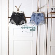 Jeans Summer 2021 Black grey, denim blue S,M,L,XL High waist 25-29 years old A3HBB231090 Peacebird 51% (inclusive) - 70% (inclusive)