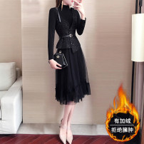 Fashion suit Winter of 2019 S M L XL Top + Dress Top + Plush dress 25-35 years old aivimo AM9221 Polyester 100%
