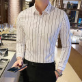 shirt Fashion City Han Ao M L XL 2XL 3XL 4XL 5XL White black red gray blue routine square neck Long sleeves Self cultivation Other leisure spring HA878 youth Polyester 55% cotton 45% tide 2021 stripe Spring 2021 No iron treatment cotton Pure e-commerce (online only) 30% (inclusive) - 49% (inclusive)
