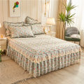 Bed skirt cotton Flower sea infatuated with love, flower blooming, flower life, flower and moon, dark green cocoa, beauty in love, strawberry Comodo / bangrui Plants and flowers Qualified products SGCQ21033
