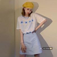 Fashion suit Summer 2021 S. M, l, average size Blue skirt piece , Green skirt piece , Blue T-shirt , Green T-shirt Under 17 30% and below