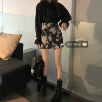 Fashion suit Spring 2021 S. M, average size Black shirt, skirt 18-25 years old 30% and below
