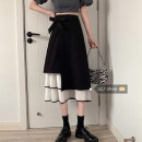 skirt Spring 2021 S,M,L black Mid length dress commute High waist Irregular Type A 18-24 years old 30% and below other Korean version