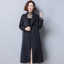 woolen coat Autumn 2020 S M L XL Classic camel honey blue black wool 95% and above have more cash than can be accounted for Long sleeves commute Frenulum routine stand collar Solid color Self cultivation Korean version A noble man Lace up button Solid color Wool 100% Pure e-commerce (online only)
