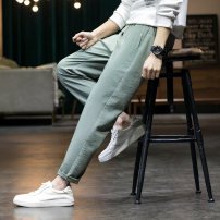 Casual pants First tone Youth fashion 99k002 green 99k002 black 99k002 Khaki 28 29 30 31 32 33 34 35 36 routine trousers Other leisure Self cultivation Micro bomb 99K002X spring youth tide 2021 middle-waisted Straight cylinder Sports pants Pocket decoration No iron treatment other other Spring 2021