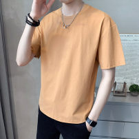 T-shirt Youth fashion routine 4XL M L XL 2XL 3XL First tone Short sleeve Crew neck easy Other leisure summer Cotton 71.4% polyester 28.6% routine tide Summer 2021 cotton No iron treatment Pure e-commerce (online only) 70% (inclusive) - 79% (inclusive)