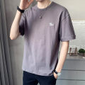 T-shirt Youth fashion thin 4XL M L XL 2XL 3XL First tone Short sleeve Crew neck easy Other leisure summer Cotton 100% routine tide Summer 2021 cotton No iron treatment Pure e-commerce (online only) More than 95%