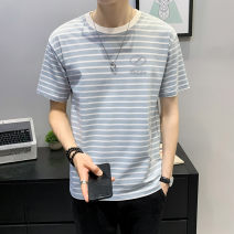 T-shirt Youth fashion Tx012 light green tx012 Khaki thin 4XL M L XL 2XL 3XL First tone Short sleeve Crew neck easy daily summer TX012C1 Cotton 100% routine tide Summer 2021 cotton No iron treatment Pure e-commerce (online only) More than 95%