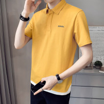 Polo shirt First tone Youth fashion routine 1228 yellow 1228 white 1228 black M L XL 2XL 3XL 4XL Self cultivation Other leisure summer Short sleeve 1228Z tide routine youth Cotton 96.7% polyurethane elastic fiber (spandex) 3.3% other cotton No iron treatment Button decoration Spring 2021