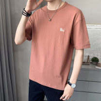 T-shirt Youth fashion 1200 dark grey brick, light red thin 4XL M L XL 2XL 3XL First tone Short sleeve Crew neck easy Other leisure summer 1200A Cotton 100% routine tide Summer 2021 cotton No iron treatment Pure e-commerce (online only) More than 95%