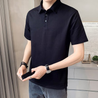 Polo shirt First tone Youth fashion routine 1225 black 1225 blue 1225 brick red 1225 white 1225 orange M L XL 2XL 3XL 4XL Self cultivation Other leisure spring Short sleeve 1125T tide routine youth Cotton 96.7% polyurethane elastic fiber (spandex) 3.3% other cotton No iron treatment Button decoration