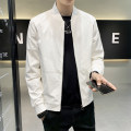 Jacket First tone Youth fashion 88j017 white 88j017 black M L XL 2XL 3XL 4XL routine easy Other leisure spring 88J007C2 Polyamide (nylon) 98% other 2% Long sleeves Wear out Baseball collar tide routine Zipper placket Straight hem No iron treatment Closing sleeve Spring 2021 nylon More than 95%