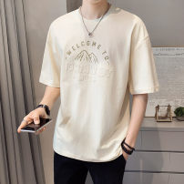 T-shirt Youth fashion Tx019 apricot Khaki tx019 thin M L XL 2XL First tone Short sleeve Crew neck easy daily summer TX019 Cotton 100% routine tide Summer 2021 cotton No iron treatment Pure e-commerce (online only) More than 95%