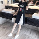 Dress Summer 2020 black S M L XL Mid length dress singleton  Short sleeve commute Crew neck Loose waist Cartoon animation Socket A-line skirt routine Others 25-29 years old Initial wave printing CL9242 More than 95% other Other 100% Pure e-commerce (online only)