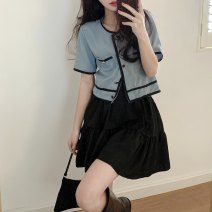 Fashion suit Spring 2021 Average size Single breasted top high waist small black skirt 18-25 years old KITTYBOOTS KBS-TZ9102 31% (inclusive) - 50% (inclusive) polyester fiber Other 100% Pure e-commerce (online only)