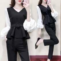 Fashion suit Autumn 2020 S (70-90 kg recommended), m (90-100 kg recommended), l (100-110 kg recommended), XL (110-120 kg recommended), 2XL (120-135 kg recommended), 3XL (135-160 kg recommended), 4XL (160-180 kg recommended) Belt for jacket + trousers (suit)