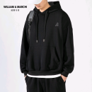 Sweater Youth fashion William Marchi / William March Black spring and autumn, black winter, grey spring and autumn, grey winter, quality assurance, support for seven days, no reason to return S M L XL 2XL 3XL 4XL other Socket routine Hood spring easy motion youth Youthful vigor Off shoulder sleeve