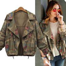 short coat Winter 2016 L,XL,XXXL,XXXXL,XXL Picture color Long sleeves Bat sleeve zipper Print, bow cotton