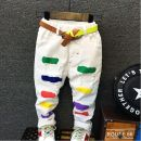 trousers Other / other neutral 90cm 100cm 110cm 120cm 130cm White trousers white trousers winter trousers leisure time Sports pants Leather belt cotton