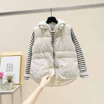 Vest Winter of 2018 Red, black, off white XL,L,M routine Solid color zipper as805008 I-shaped Other / other cotton