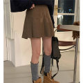 skirt Spring 2021 S,M,L Black, beige Short skirt Versatile High waist A-line skirt Solid color Type A 18-24 years old 51% (inclusive) - 70% (inclusive) Other / other wool