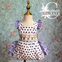 Jumpsuit / climbing suit / Khaki Other / other Class A female cotton summer Sleeveless princess Cotton 100% 12 months, 18 months, 2 years, 3 years, 9 months Chinese Mainland