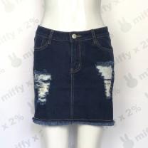 skirt Summer of 2019 S, M navy blue