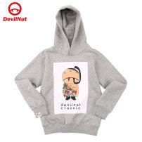 Sweater / sweater DEVIL NUT neutral 110cm 120cm 130cm 140cm spring and autumn No detachable cap cotton Cartoon animation Cotton 100% Autumn of 2018