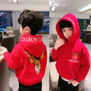 Sweater / sweater Heimi Ma gules male 100cm,110cm,120cm,130cm,140cm,150cm,160cm winter No detachable cap leisure time Socket Plush There are models in the real shooting cotton Cartoon animation