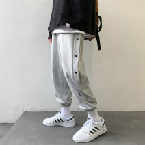Casual pants Others Youth fashion Black, lake blue, grey S. M, l, XL, 2XL, 3XL, 4XL, 5XL, XS plus small routine trousers Other leisure easy autumn teenagers tide 2020 Little feet Polyester 100% Sports pants other washing Solid color
