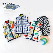 Vest neutral 66cm,73cm,80cm,90cm,100cm Other / other spring and autumn routine Korean version Fleece Polyester 100% Class A
