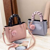 Bag The single shoulder bag PU Bucket bag Tianyan brand new Japan and South Korea in leisure time soft zipper no Solid color Double root One shoulder cross carry Yes youth Crescent shape locomotive Soft handle polyester fiber Card position, zipper bag PU leather Open your pocket